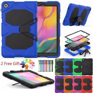 For Samsung Galaxy Tab A E S4 S5e 2019 Tablet Armor Hard Rugged Cover Stand Case