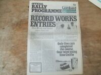 Rare - Official 1974 Lombard RAC Rally Official Programme