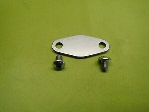 STAINLESS Fuel Pump Blank Plate - FORD 1.6 2.0 PINTO Engine Escort Capri hotrod