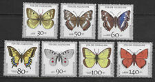 GERMANY, 1991 , BUTTERFLIES , SET OF 7 STAMPS , PERF , MNH , CV$10.70