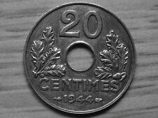 20 centimes état français 1944 fer, très rare dans   l'état ( a voir )