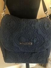 Petunia Pickle Bottom Bedford Avenue Stop Boxy Backpack Diaper Bag Navy Euc
