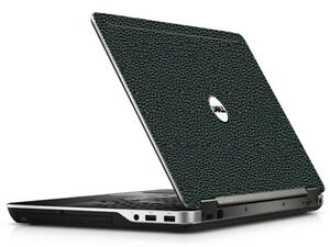 LEATHER Vinyl Lid Skin Cover Decal fits Dell Latitude E6540 Laptop