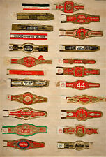 132 Old Cigar Bands or labels; All Different