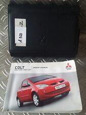 Mitsubishi Colt Owners Handbook Manual and Wallet 04-08