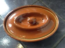 Antique Art Deco (1926) Lovatt's Langley Ware English Leadless Glaze Cook Pot