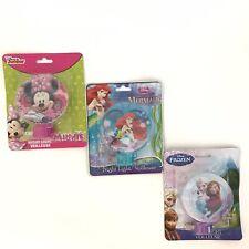New Lot of 3 Disney Plug In Night Lights Frozen Little Mermaid Minnie Mouse