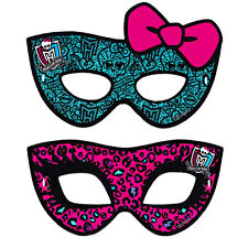 MONSTER HIGH PAPER MASKS (8) ~ Birthday Party Supplies Cleo De Nile Girly Favors