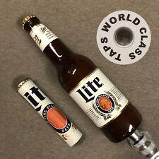 SALE!!!  2 MILLER LITE beer TAP HANDLEs tapper marker KEGERATOR draft pull