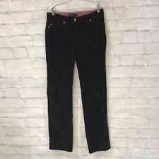 Boden Straight Leg Black Velvet Jeans Trousers Women's Pants Size 10 R
