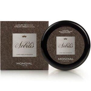 Mondial 1908 Nobilis Luxury Shaving Cream Classic Italian Solid Texture Bowl 150