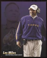 Les Miles Signed 8x10 Photo College NCAA Football Coach Autograph LSU