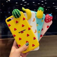KISSCASE 3D Fruit Soft Silicone Gel Rubber Phone Case For iPhone 7 8 X 6 6S Plus