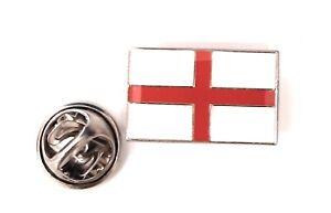 England St George Cross Flag Enamel & Metal Lapel Pin Badge FREE UK Delivery!