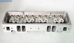 Deepmotor SBC Small Block Chevy 350 Cylinder Head Bare Straight Plug Aluminum