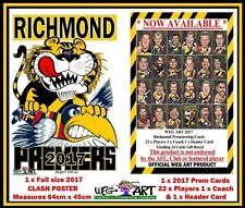 Richmond Tigers Weg Art 2017 Clash Poster & Prem Card FREE POST IN AUSTRALIA