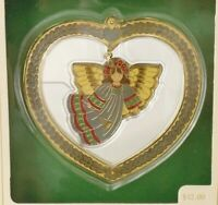 Hallmark Ornament 1982 Cloisonne Angel Vintage Hanging Christmas Ornament