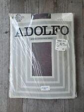 Vintage Adolfo Flannel Gray Sheer Panty Hose - Size XL - Old Stock, Still Sealed