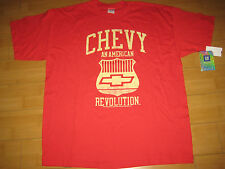 """Chevrolet CHEVY """"AN AMERICAN REVOLUTION"""" Men's Red T-Shirt Size: X-LARGE XL NEW"""