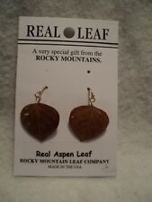GENUINE ROCKY MOUNTAIN ASPEN LEAF EARRINGS ~ NATURAL ~ NEW!!