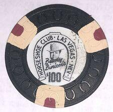 Binions Horseshoe $100 Obsolete horseshoemold casino chip