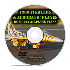 1300 Fighters and Acrobatic, Remote Control RC Model Airplane Plans, DVD I23