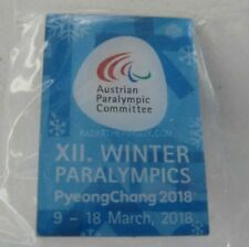 2018 PyeongChang Austrian Paralympic Committee Dated Blue Pin