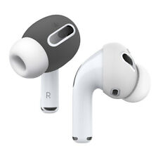 AirPods Pro Ear Tips Cover - elago® [2Pairs x 2Colors] [Dark Grey/White]