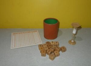 Selchow & Righter Scrabble Sentence Cube Game Replacement Wood Cubes & Score