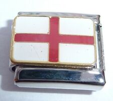 ENGLAND FLAG Italian Charm - English St George's Cross 9mm fits Classic Bracelet