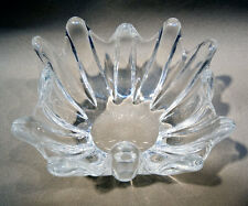 Free Form Style Clear Glass Bowl, Art Glass, Thick Glass Bowl