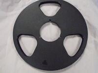 "NEW NAB Plastic Take Up Reel Master 1/4"" NO Tape 10.5"" Empty No Flange Metal"