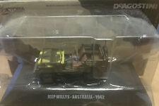 """DIE CAST """" JEEP WILLYS - AUSTRALIA - 1942 """" MEZZI MILITARI  DEAGOSTINI 1/43"""