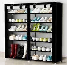 Organizador de tela de zapatos Zapatero resistente polvo 7 Pisos Color Negro