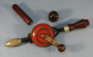 """Collectible CRAFTSMAN No. 1071 """"Egg Beater"""" Hand Drill - Hollow Handle w/ 2 Bits"""