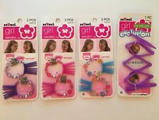 Scunci Girl Bendini Clip 3 Sets Fancy Hair Jewelry No Slip Stretchy Headband