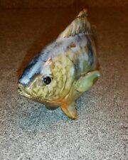Handmade Pottery Fish Tabletop Ornament Freshwater Trout Carp Bass Bluegill
