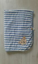 STEIFF Nicki Baby Decke blau/weiß gestreift w.Neu