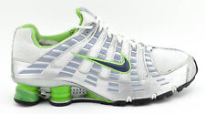WOMENS NIKE SHOX + 2006 RUNNING SHOES SIZE 9 WHITE SILVER GREEN 314069 101