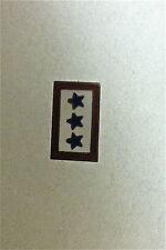 Vintage Enameled Military Pin on Sterling, 3 Stars