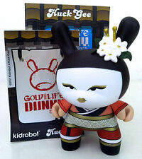 "DUNNY 3"" GOLD LIFE SERIES HUCK GEE CHERRY RED GEISHA CHASE 2011 KIDROBOT VINYL"