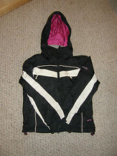 winter jacket coat girls teen size extra small  xs LIMELIGHT black white pink