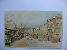 Carte postale, CPA, Lessieux, Authentique, Marseille, Le quai du Port.