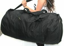 "36""  70LB. CAP. ROUND JUMBO BLACK DUFFLE BAG/ GYM BAG / LUGGAGE / FAST FREE SHIP"