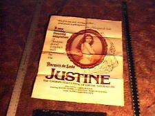 JUSTINE MOVIE POSTER SEXPLOITATION MARQUIS DE SADE