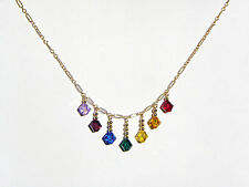 Chakra Necklace with Gold Filled Chain and Swarovski Crystals