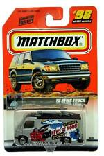 2000 Matchbox #98 On The Road Again TV News Truck with 2000 logo