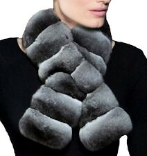 Women's New Real Chinchilla Fur Cape Scarf Wrap Shawl CLEARANCE  SALE! 💰
