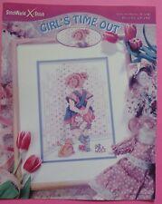 #) STITCHWORLD diagramme point de croix cross stich GIRL'S TIME OUT  - 1998