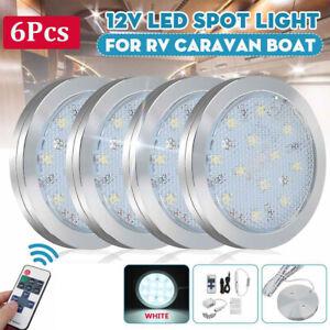 6x Interior LED Spot Ceiling Light Downlight For Van Camper Caravan Motorhome